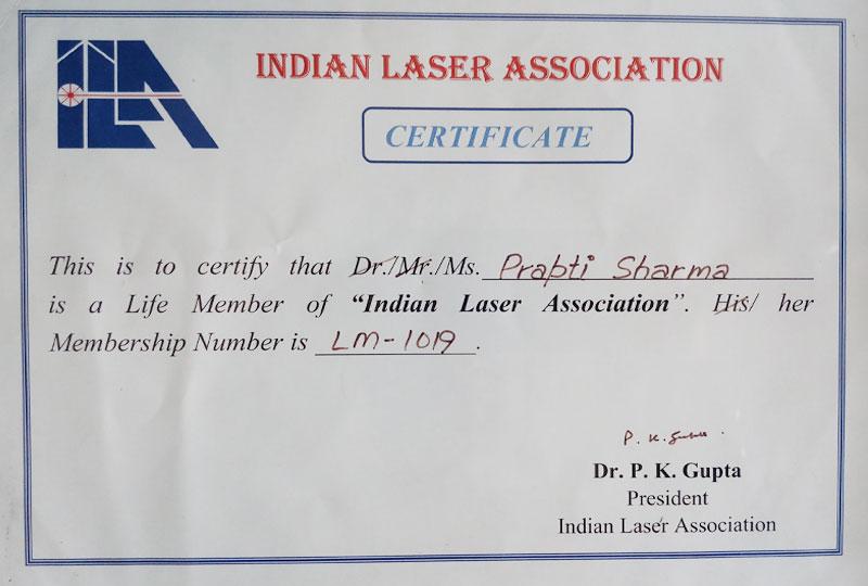Certificates   Shree Skin Care & Slimming Center